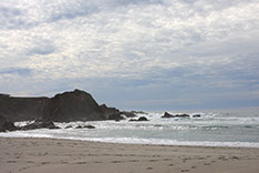 photo of one of the beaches at the Mendocino Coast just a short walk from our guest room.