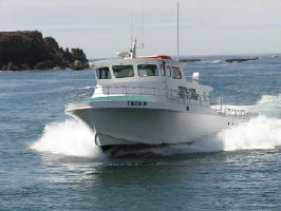 Photo of a Charter Boat on the Pacific Ocian